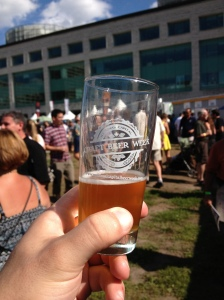 Having a glass of 'The Princess & Girl Pants Meets The O.D.B.' by Sawdust City at NCCBW Beer Festival.