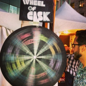 Spinning the Wheel of Cask at Beyond the Pale's NCCBW tent.