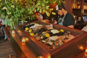 Raw Oyster Bar at Woodsman